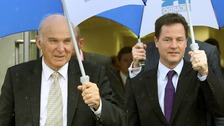Vince Cable and Nick Clegg.