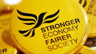 Liberal Democrat merchandise at the party conference.