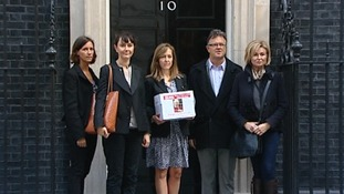 The signature were handed in to Downing Street.
