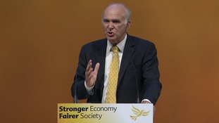 Vince Cable blasts 'nasty' Conservatives.