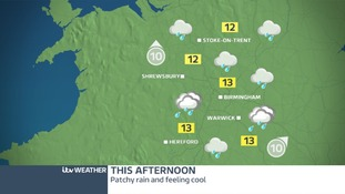 A wet and windy day ahead in the West Midlands