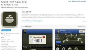 iFruit's listing in iTunes appears to poke fun at the app phenomenon