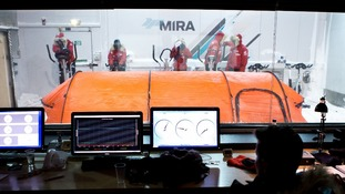 Conditions within the chamber can be adjusted and replicate the low temperatures and high winds the team will experience in the South Pole.