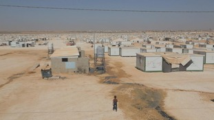 Zaatari refugee camp in Jordan is home to more than 130,000 Syrian refugees