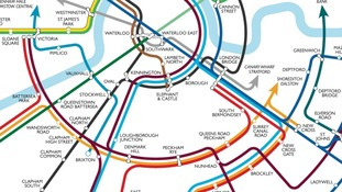 Rail map redesigned by Max Robert