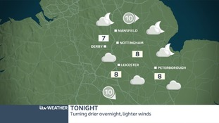 Rain will clear away to the south tonight
