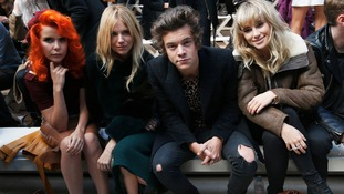 Harry Styles at the Burberry show during London Fashion Week