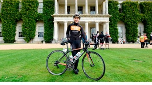 cyclist at goodwood