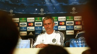 Jose Mourinho during a press conference at Cobham Training Ground