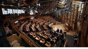 The seat of Scotland's devolved power - the Scottish Parliament in Edinburgh
