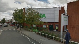 The Asda store in Colindale close where the victim had been shopping before the attac