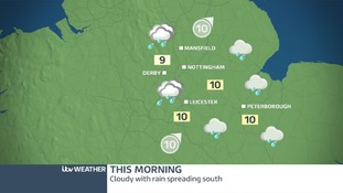Cloudy, wet and windy this morning across the East Midlands