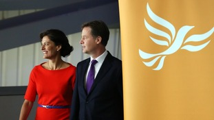 Nick Clegg with wife Miriam at the party conference.