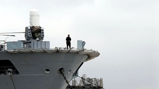 HMS Ocean anchors in Greenwich ahead of Olympics security drive