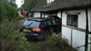 Car in wall