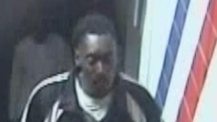 Police are trying to trace this man following the attack om platform five at Willesden Junction station