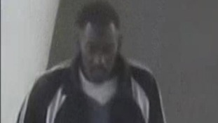 CCTV image of the man British Transport Police are trying to trace after the attack