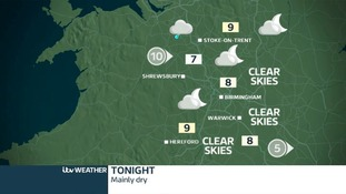 Mostly dry with patchy cloud