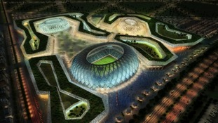A computer image of the 'Al Wakra' stadium to be built in Doha, Qatar, for the 2022 World Cup.
