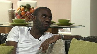 Fabrice Muamba talks to Adrian Chiles