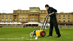 Karl Standley, who normally works as a groundsman at Wembley Stadium