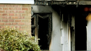Scene following a house fire in Barn Mead Harlow, Essex in 2012