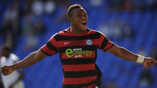 Peterborough United striker Britt Assombalonga has been awarded the Football League's Young Player of the Month award