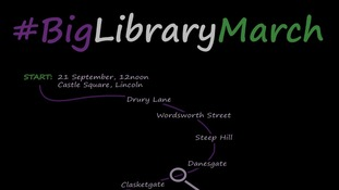March against library closures