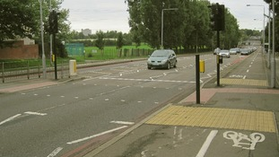 A general view of a section of the road in Sutton, south London, where the officer was knocked down.