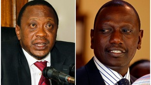 Kenyan President Uhuru Kenyatta (L) and his deputy William Ruto pictured in 2010