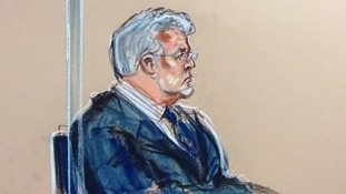 Rolf Harris at Westminster Magistrates' Court in London
