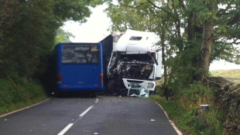 Car Crashes Into Bus Today