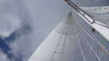 The team are operating carefully with the spinnaker sails