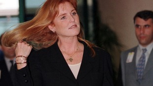 Duchess of York Sarah Ferguson arrives at Istanbul's Ataturk airport in June 10 1998