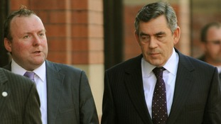 Damian McBride with Gordon Brown in 2008