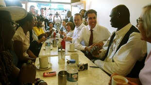 Ed Miliband during a recent campaign visit to Walworth, South London