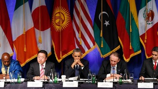 President Obama hosts a civil society roundtable meeting in New York.