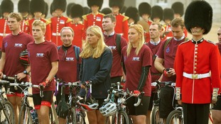 Grenadier Guards set off on long cycle ride to Belgium