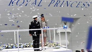 Kate Middleton at opening of Royal Princess