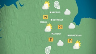 Sunny spells by tomorrow afternoon