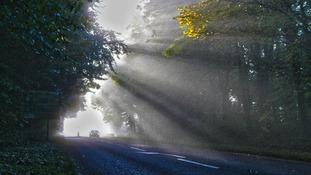 Foggy scene in Watnall, Nottinghamshire