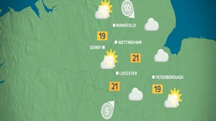 East Midlands: Sunny spells and warm