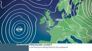 Low Pressure taking charge for the weekend