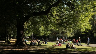 Parkgoers enjoying the weather in Dublin's St Stephen's Green this week.