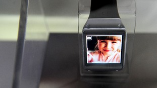A Samsung Galaxy Gear smartwatch.