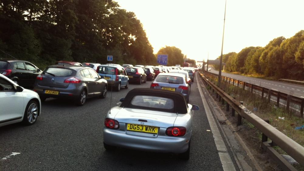 Huge Traffic Jam On M62 Eastbound After Incident Granada