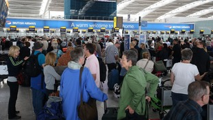 Passengers turning up at T5 with bags for the hold were not able to travel