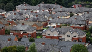 A general view of houses in Yorkshire.