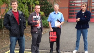 Firefighters in Stafford join the protest