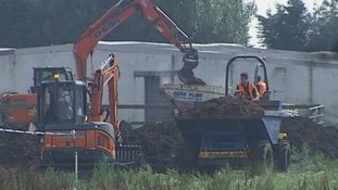 Diggers are being used at the sites as part of the investigation.